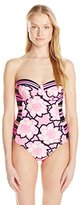 Ted Baker Women's Marjas Floral Mash-Up One-Piece Swimsuit