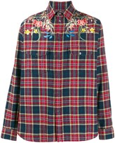 Gucci Checked Floral Shirt