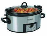 Crock Pot Crock-Pot 6-Quart Programmable Cook and Carry Oval Slow Cooker, Digital Timer, Stainless Steel, SCCPVL610-S by Crock-Pot