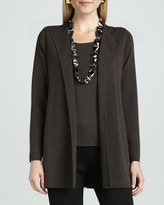 Eileen Fisher Washable-Wool Long Jacket