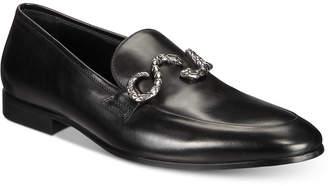 Roberto Cavalli Men Moc Toe Slip-On Loafers With Snake Ornament Men Shoes