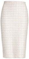 St. John Women's Sequin Scallop Tweed Pencil Skirt