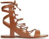 Sigerson Morrison Bunny lace-up leather sandals