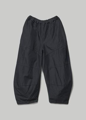 Comme des Garcons Women's Treated Gabardine Elastic Waist Pant in Navy Size 1