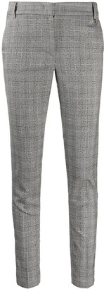 Liu Jo Plaid-Check Slim Trousers