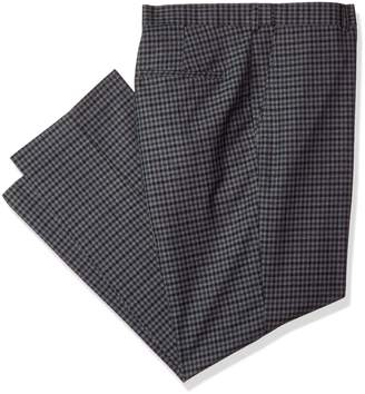 Alexander Julian Colours Men's Big and Tall Big & Tall Flat Front Check Suit Dress Pant W/Adj. Waist