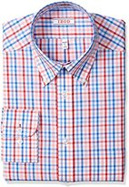Izod Men's Regular Fit Multi Plaid Shirt