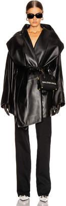 Balenciaga Incognito Coat in Black | FWRD