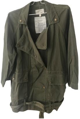 Current/Elliott Current Elliott Khaki Cotton Jacket for Women