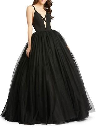 Mac Duggal Cutout Ball Gown