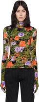 Richard Quinn Multicolor Floral Turtleneck