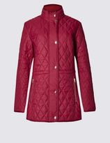 Marks and Spencer Longline Quilted Coat with StormwearTM