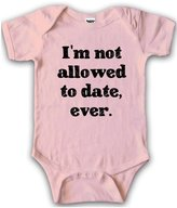 Crazy Dog T-shirts Crazy Dog Tshirts Baby Creeper I'm Not Allowed To Date Shirt for Girls 6-12 mths