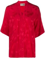Zadig & Voltaire x NBA Mandala V-neck silk blouse