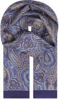 Eton Paisley Print Silk Scarf