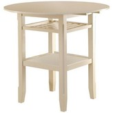 Talbot Counter Height Drop Leaf Dining Table August Grove Color: Cream