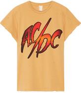 MadeWorn - Ac/dc Distressed Printed Cotton-jersey T-shirt - Mustard