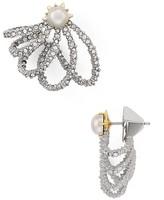 Alexis Bittar Pavé Lace Orbiting Stud Drop Earrings