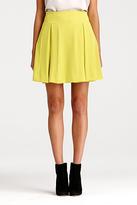 Diane von Furstenberg Beata Pleated Skirt In Frosted Lime