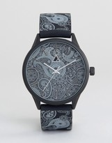 Asos Watch In Monochrome With Paisley Print