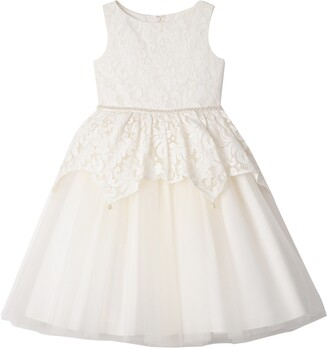 Badgley Mischka Lace Peplum Dress