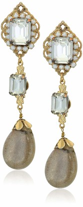 Leslie Danzis Dainty Labradorite Drop Earrings