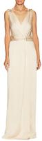 Jenny Packham V-Neck Embellished Detail Gown