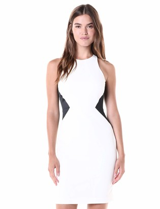 Halston Women's Sleeveless Round Neck Dress