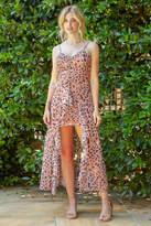 J.o.a. Ruching Hi-Lo Midi Dress Multi M