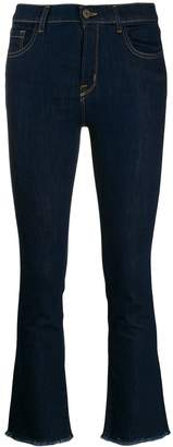 L'Autre Chose fringed jeans in a cropped length