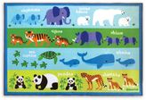 Olive Kids 5-Foot x 7-Foot Endangered Animals Accent Rug in Green