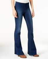 Free People Gummy Pull-On Dark Blue Wash Flared Jeans