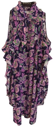 Sandro Spring Summer 2019 Purple Silk Dresses