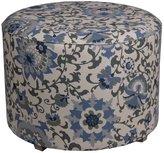 Privilege 68062 Round Ottoman, 24-Inches, Blue