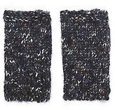 Luisa Brini Lurex Navy Fingerless Gloves
