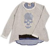 Flowers by Zoe Girls 7-16 Skull Studded Sweatshirt