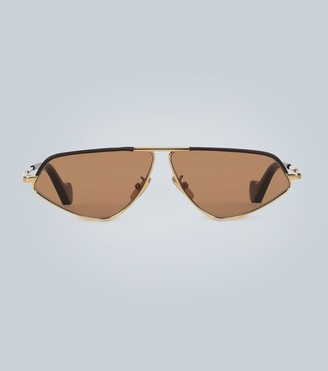 Loewe Leather geometric sunglasses