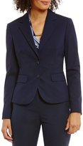 Jones New York Washable Suiting Two-Button Notch Lapel Jacket