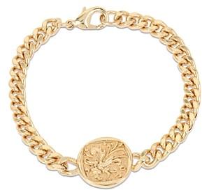AllSaints Gold-Tone Coin Link Bracelet