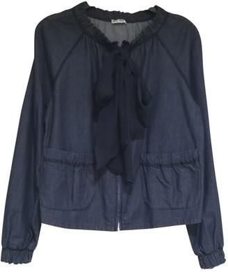 Miu Miu Navy Cotton Jacket for Women