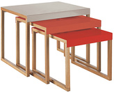 Habitat Kilo Nested Tables - Grey, Orange and Red