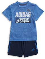 Adidas Two-Piece Full Court Short Sleeve T-Shirt and Shorts Set