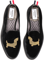 Thom Browne Gold Bullion Velvet Hector Slippers