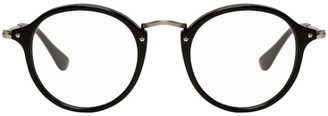 Ray-Ban Black and Silver Round Fleck Glasses