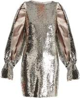 Osman Poppy split-sleeved sequin-embellished dress