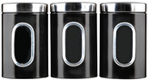 Russell Hobbs Set of 3 Storage Canisters - Black