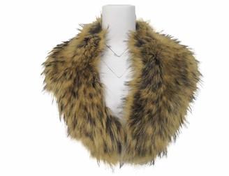 Bellivera Faux Fur Collar Women's Neck Warmer Scarf Wrap Shawl for Winter Coat