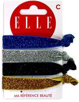 Elle It Strap Band Set of 4 Glitter Elastic Hair Ties – Set of 2