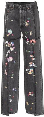 Vetements x Levi's high-rise wide-leg jeans