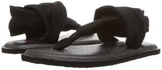 Sanuk Yoga Sling Burst (Toddler/Little Kid) (Black) Girls Shoes
